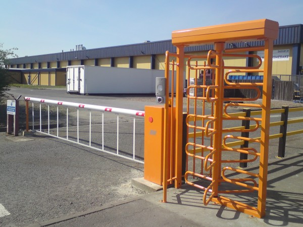 Barrier with Botton Skirt and Turnstile